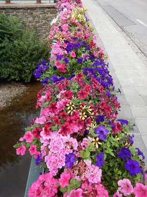 European countries do a great job in the summer adding flowers on bridges, lamp posts and other public spaces; you hardly see any litter in Luxembourg