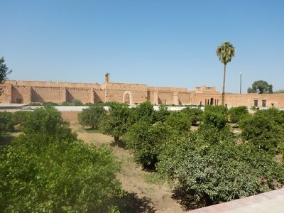 The El Badi Palace was built around 1600 and is a larger version of the Alhambra's Court of the Lions