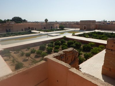The El Badi Palace is now mainly ruins except for the outer walls but you do get a sense of the enormity of the palace