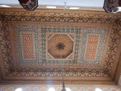 Bahia Palace; so many unique ceiling designs here; did the wives each pick out the ceilings they wanted?