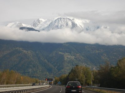 Spectacular drive from Annecy and Fier's Gorge up to Chamonix