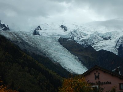 Bosson's Glacier; Mont Blanc is the 11th highest mountain in the world and climbed by about 20,000 people a year