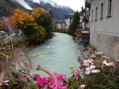 The Arve River runs right through the center of Chamonix before eventually reaching Lake Geneva