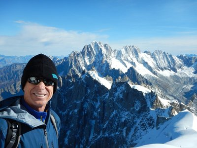 Chamonix gets more than 5 million visitors a year but October is low season so it wasn't crowded