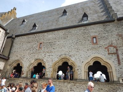 Every inch of the castle and grounds was covered during the Medieval Festival; tons of stuff to buy as well as demonstrations of various craftsmen