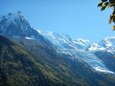 Everywhere you go in Chamonix there are tremendous views of Mont Blanc