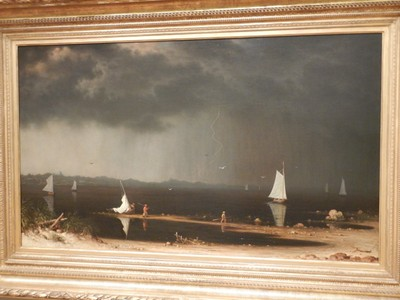 Thunder Storm on Narragansett Bay, Martin Johnson Heade, 1868; Amon G. Carter contributed greatly to Fort Worth as publisher of the Star-Telegram, founding board member of American Airlines, and owner of the first radio station in the city