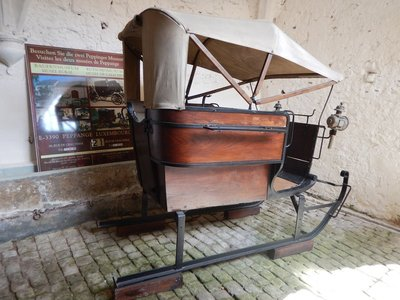 Sled carriage; Beaufort is a small town of 1800 in eastern Luxembourg on the border of the Little Switzerland region
