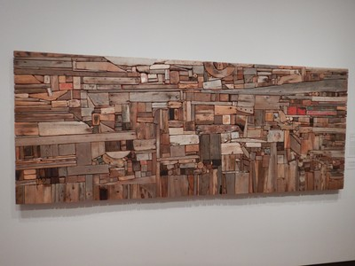 New England Landscape II, George Morrison, 1967; inspired by his friend Louise Nevelson, Morrison created this imposing landscape from driftwood he found along Cape Cod