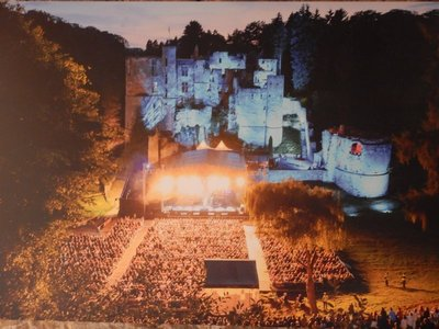 Huge crowd enjoying Rock Classics at Beaufort Castle; what a great venue for a concert!