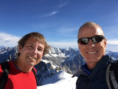 Lee and I have both been to Chamonix before, but still took the lift up to Aiguille de Midi for the incredible vistas