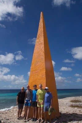 The large obelisk was to help ships find the salt pans; Bonaire is only 111 square miles with a length of 24 miles and a width of between 3 and 5 miles