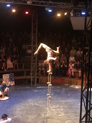 In Siem Reap we visited a Cirque du Soleil-type show put on by young people from a disadvantaged village; the show was very impressive and  an uplifting story