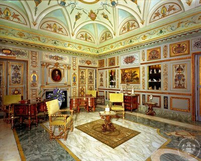 Salon Mazarin in Prince's Palace; the tiny principality gets more than 1.5 million visitors per year
