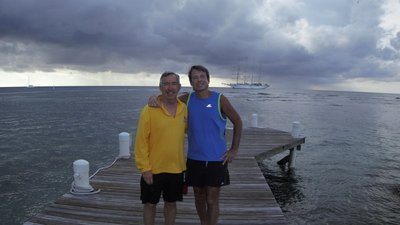 Bob served as dive master for our dives and did his best to keep me in line; his experience was extremely helpful