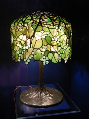 Grape Table Lamp (ca. 1901-03); the value of original Tiffany lamps can range from many thousands to more than a million dollars; the highest price ever paid for a Tiffany lamp was $3.4 million at a Christie's auction in 2018