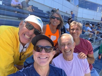 It was wonderful spending time with these great friends; I hadn't seen David Romero in many years and we also visited with Jason Coronado who was working at the US Open (he's taking time away from teaching at the moment)