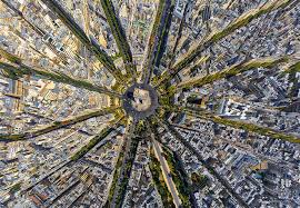 My flight into Paris flew right over the city; you get a great appreciation for the genius of Haussmann and his urban planning