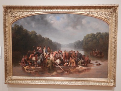 Marion Crossing the PeeDee, William T Ranney, 1850; General Francis Marion (aka the Swamp Fox) was a hero of the American Revolution, second only to George Washington in the popular imagination