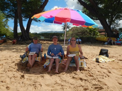The guys enjoying lunch takeout at Kahekili Beach Park; it seemed to take forever to get anywhere on the island (partly due to us staying on the SW corner)