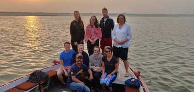 The group took sunset and sunrise boat trips on the Ganges without me since I was suffering from a severe and prolonged case of Delhi belly