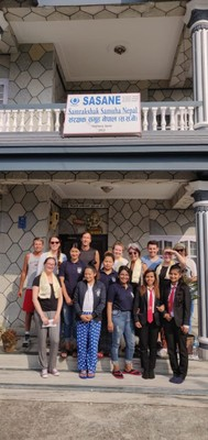 Our group with ladies rescued from human traffickers who served us a nice lunch; the ladies are supported by a grant from G Adventures