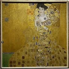 Portrait of Adele Bloch-Bauer I, Gustav Klimt, 1907; also known as the Lady in Gold, this oil painting made with gold and silver leaf was the highlight of my visit to the very small and expensive Neue Galerie