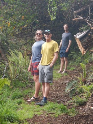 Morgan led us on a hike through the redwoods at Polipoli State Recreation Area on the slopes of Haleakala; we were often in the clouds so views were limited (I mostly saw roots as I was constantly looking down to avoid tripping)