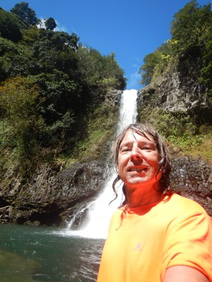 I was happy and relieved to have reached the final waterfall on the Four Waterfalls Hike; the hike would make for a great episode of the Amazing Race