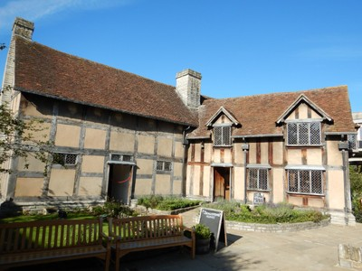 This is the house where Shakespeare was born in 1564; the wing on the right was added later once Shakespeare's birthplace became a tourist attraction