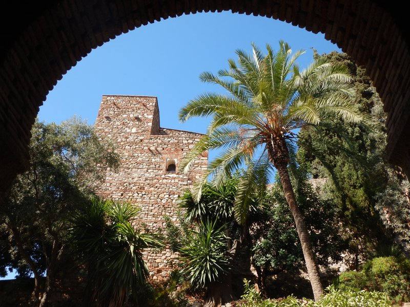 Alcazaba; combo ticket to see hilltop castle and Alcazaba was less than $5; the complex is woefully short of good signs though and I think I walked twice what I should have