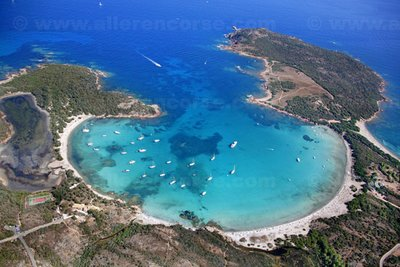 Rondinara Beach is one of the most famous in Corsica for its unique shape; it's quite shallow so popular with families and small kids