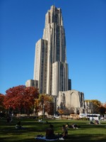 Standing 535 ft, the 42-story Late Gothic Revival Cathedral of Learning is the tallest educational building in the Western hemisphere and the centerpiece of the Univ of Pittsburgh campus; it is also the 2nd-tallest gothic-styled building in the world