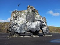 Hvitserkur is known as the petrified troll of NW Iceland; it's a 15m high monolith/sea stack