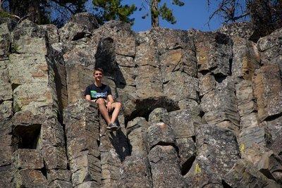 Max auf den Sheepeater Cliffs