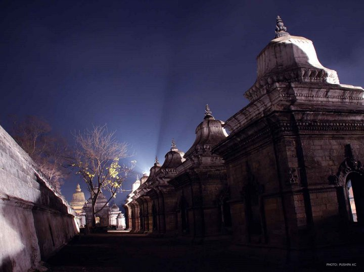 Light and Shade in Pashupati temple