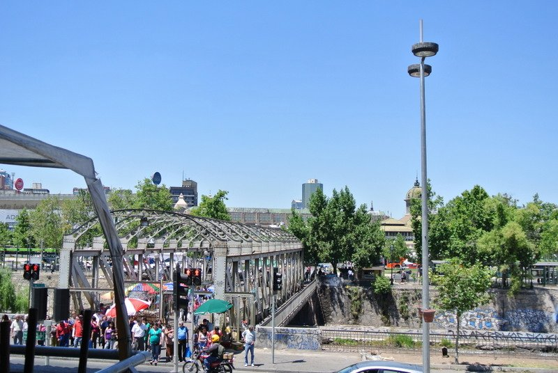 Looking over the river to Mercado Central