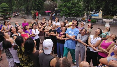 Laughter yoga in Hanoi