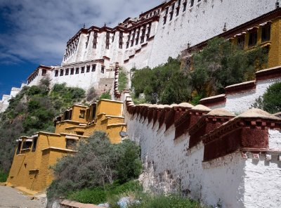 Climbing the stairs to the Potala Palace