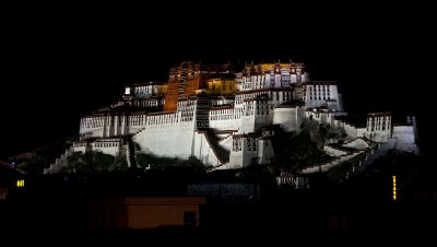 Potala Palace illuminated at night