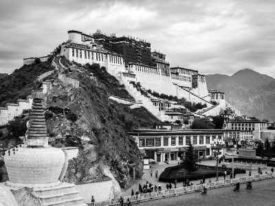 Potala Palace in monochrome