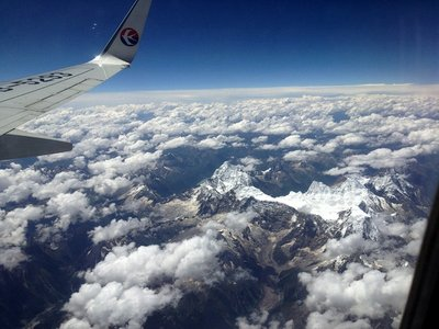 The Hengduan Mountains from the air