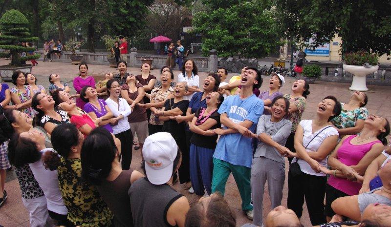 Laughter yoga in Hanoi