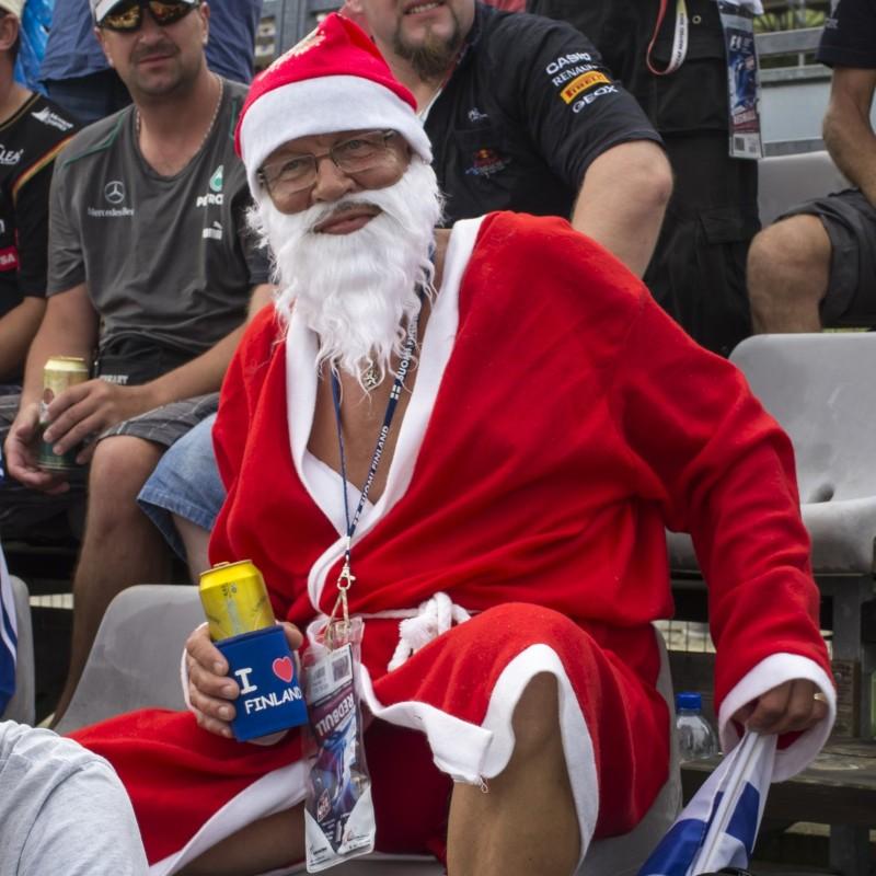 Santa at the F1