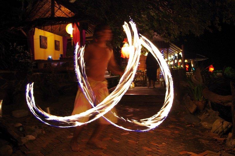 Firedancer at the Bamboo Bay Resort