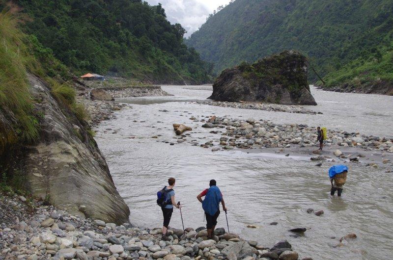 Nepali Legs Aren't Long Enough for River Crossings