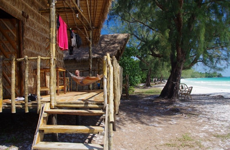 Our beach bungalow on Koh Rong