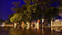 Ly Thai To Park at night