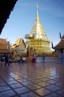 Wat Doi Suthep's golden chedi is one of the most sacred places in northern Thailand