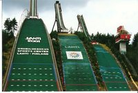 A detailed view of Lahti's ski-jumps